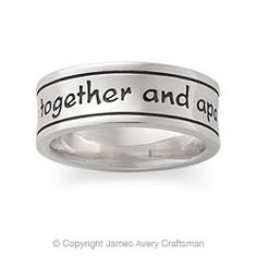Be With Us Band This Comes From Genesis 31 49 The Inscription Bandsjames Avery Ringsmen Wedding Bandsbeautiful