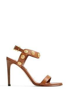 New Valentino favorite! Tan and gold stud pump.