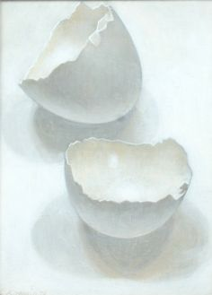 Eggshells | From a unique collection of still-life paintings at https://www.1stdibs.com/art/paintings/still-life-paintings/