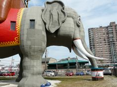Lucy the Elephant is located at 9200 Atlantic Avenue, Margate, NJ