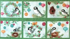 South Sea Imports 'Chickadee Holiday' Bildgröße 110 cm x 60 cm we-119-01-6077 https://planet-patchwork.de/de/article/kp/25549/3/