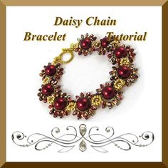 PDF Tutorial Daisy Chain Bracelet Tutorial with by CTBeading.