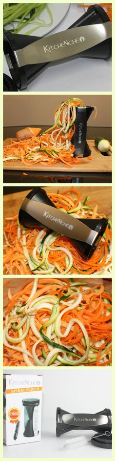 Make yummy easy Veggie Spaghetti with the Spiralizer by KitcheNiche ! Great for this summers zucchini & squash season! http://www.amazon.com/gp/product/B00PTNKPXK