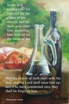 James (KJV) - Is any sick among you? let him call for the elders of the church; and let them pray over him, anointing him with oil in the name of the Lord: And the prayer of faith shall. Healing Scriptures, Healing Words, Prayers For Healing, Scripture Verses, Bible Scriptures, Healing Prayer, Bible Quotes, Book Of James, James 5
