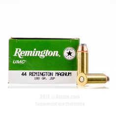 Remington 44 Magnum Ammo - 500 Rounds of 180 Grain JSP Ammunition #44Magnum #44MagAmmo #Remington #RemingtonAmmo #Remington44Mag #JSP