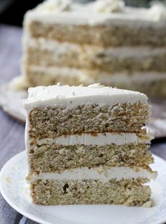 by eatswellwithothers, via Flickr~Pistachio cake with Honey Vanilla buttercream, this sounds yummy!