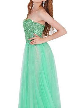 Ivydressing Classic Princess Sweetheart Rhinestones Prom Homecoming Dresses-14-Green. Built-in bra, fully lined, sweep train. Concealed zipper; Dry clean only. After you order the dress, we will email to your Amazon account for detailed measurements. Please prepare and reply it ASAP. How to measure? Please check the left image. If there is any requirement like COLORS and URGENT SERVICE, please don't hesitate to contact us. It's our pleasure to tailor a beautiful and comfortable dress for...