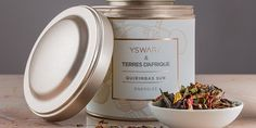 Packaging for Terres d'Afrique and Yswara Teas. Designed by: Bruno Morphet, South Africa.