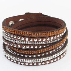 Trendy brown wrap bracelet Adjustable Jewelry Bracelets