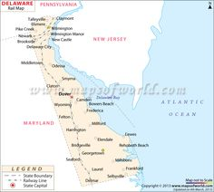 State Map Of Delaware US States Pinterest Delaware And - Delaware us map