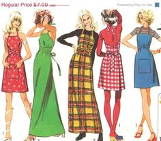Holiday SALE 20% Off Vintage 1972 Misses Super by patternpalooza Shop Now