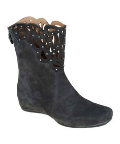 Take a look at this Dark Gray Raaka Suede Cutout Boot by Earthies on #zulily today!