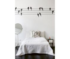 ferm LIVING muursticker powerbirds | muurstickers | wanddecoratie Deens