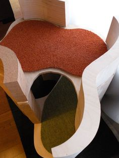 architecture for cats, lounger, bed, scratching post