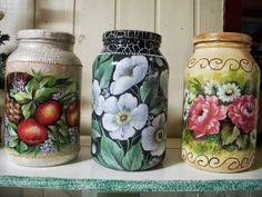 pintura em vidro artesanato - Pesquisa Google