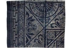 Deep Indigo Batik Panel