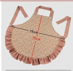 -apron ~ like the snap on the neck time. Sewing Hacks, Sewing Crafts, Sewing Projects, Sewing Aprons, Sewing Clothes, Easy Apron Pattern, Apron Designs, Cute Aprons, Kids Apron