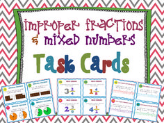 Task Cards are the ideal way to differentiate your math instruction. They are perfect for use in small groups, centers, and during math w. Fractions Decimals And Percentages, Improper Fractions, Percents, Teaching Schools, Teaching Math, Maths, Teaching Ideas, Math Games, Math Activities
