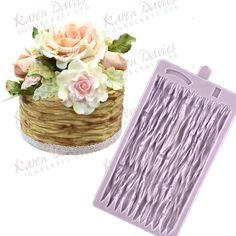 Create gorgeous realistic rustic wicker effects on your cakes with the latest Karen Davies mould, Beautiful rustic wedding cake designs.