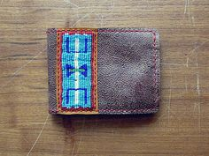 Leather Wallet Crow by PairOfHandsLeather on Etsy