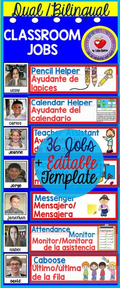Classroom jobs dualbilingual classroom jobs ppt file and dualbilingual job cards manage your classroom jobs all year with this practical set toneelgroepblik Image collections