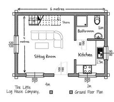 Floor Plans — The Little Log House Company Woodworking Guide, Custom Woodworking, Woodworking Projects Plans, Tiny House Plans, House Floor Plans, A Frame Cabin Plans, Geodesic Dome Homes, Floor Plan Layout, Dome House