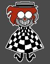A sprite of Ferris floating and grinning evilly