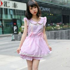 """Purple Peter Pan Collar Mini Dress Use the code """"coquette"""" at checkout for off All Items ♥ Cute Dresses, Cute Outfits, Dolly Fashion, Chiffon Shirt, Kawaii Fashion, Cotton Style, Purple, Pink, Red And Blue"""
