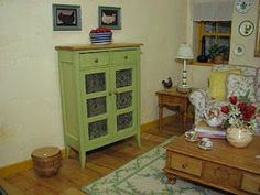 Dollhouse Miniature Furniture - Tutorials | 1 inch minis: Ethan Allen Room Box