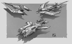 ArtStation - Aircraft concept sketches-II, Z PZ