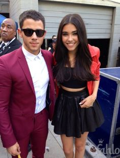 Madison Beer with Nick Jonas at the 2014 Young Hollywood Awards