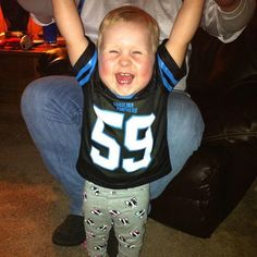 Happiness like this is only achieved when you are a Panther fan!