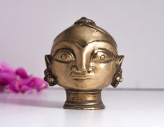 Brass Figurine Sculpture Statue, Vintage Indian Parvati Gauri Goddess Authentic Hindu Brass Figurine, Tribal Head Figurine, India Decor by CozyTraditions on Etsy Hidden London, India Decor, Shiva Linga, Vintage Decor, Brass, Indian, Antiques, Unique Jewelry, Handmade Gifts