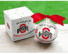 Ohio State Buckeyes - We Wish You - Christmas Ornament $20.00