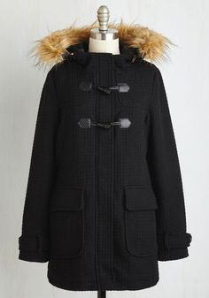 Toasty Transit Coat in Black From the Plus Size Fashion Community at www.VintageandCurvy.com