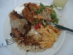 A Typical Bajan Lunch Meal.. Yummy