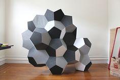 modular sculpture.  IDEA FOR BRIEF: PAINT TO ADD DEPTH