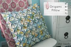 Origami Pillow Tutorial -- this looks great.