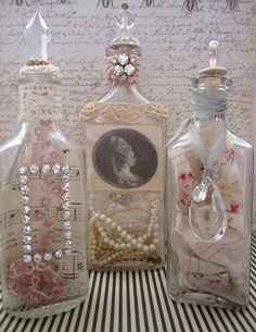 Trésor Vintage Chic minable bouteilles lot de par AnneMariePaperie