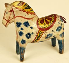 Dala horse | Dalahäst | Older Dalahorse of carved wood and w… | Flickr