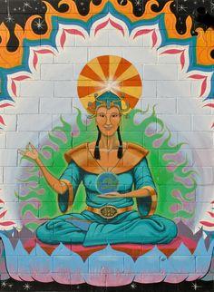 Detail of mural. Kamloops, BC