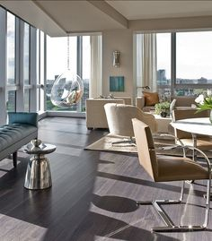 Contemporary Living Room Dark Grey Flooring   Home Decorating Trends    Homedit. Living Room Paint Color: The Best ...