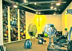 yellow exercise room is energizing
