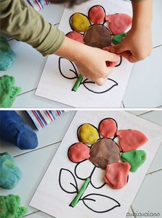 Tutorial: How to make your own Play Doh picture mats - Cucicucicoo