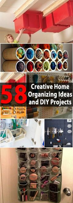 Look at these 58 great DIY home organization tips and ideas to organize your home creatively.