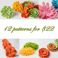 PDF PATTERN - All 13 flower and jewelry patterns from this shop.. $22,00, via Etsy.