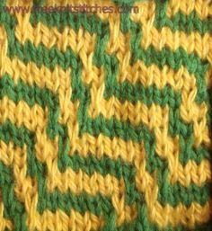 Zebra knitting stitches