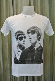 Liam Gallagher & Noel Gallagher Oasis Band Unisex T-Shirt S to XXL