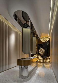Wc Design, Bathroom Design Layout, Bath Design, Bathroom Interior Design, Interior Decorating, Dressing Table Design, Staircase Design, Ceiling Design, Modern Bathroom