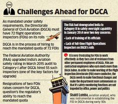 A Road To Aviation: DGCA STRUGGLES TO MAINTAIN MANDATED 72 FOIs